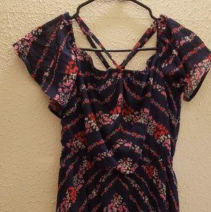 **NEW**Maurice's Chiffon-Flutter Sleeve Dress